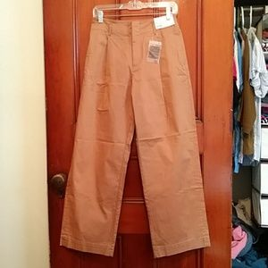 NWT Uniqlo 6 High Waist Chino Wide Leg Pants